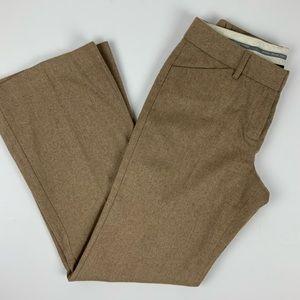 Express Editor Camel Wool Career Pants 4